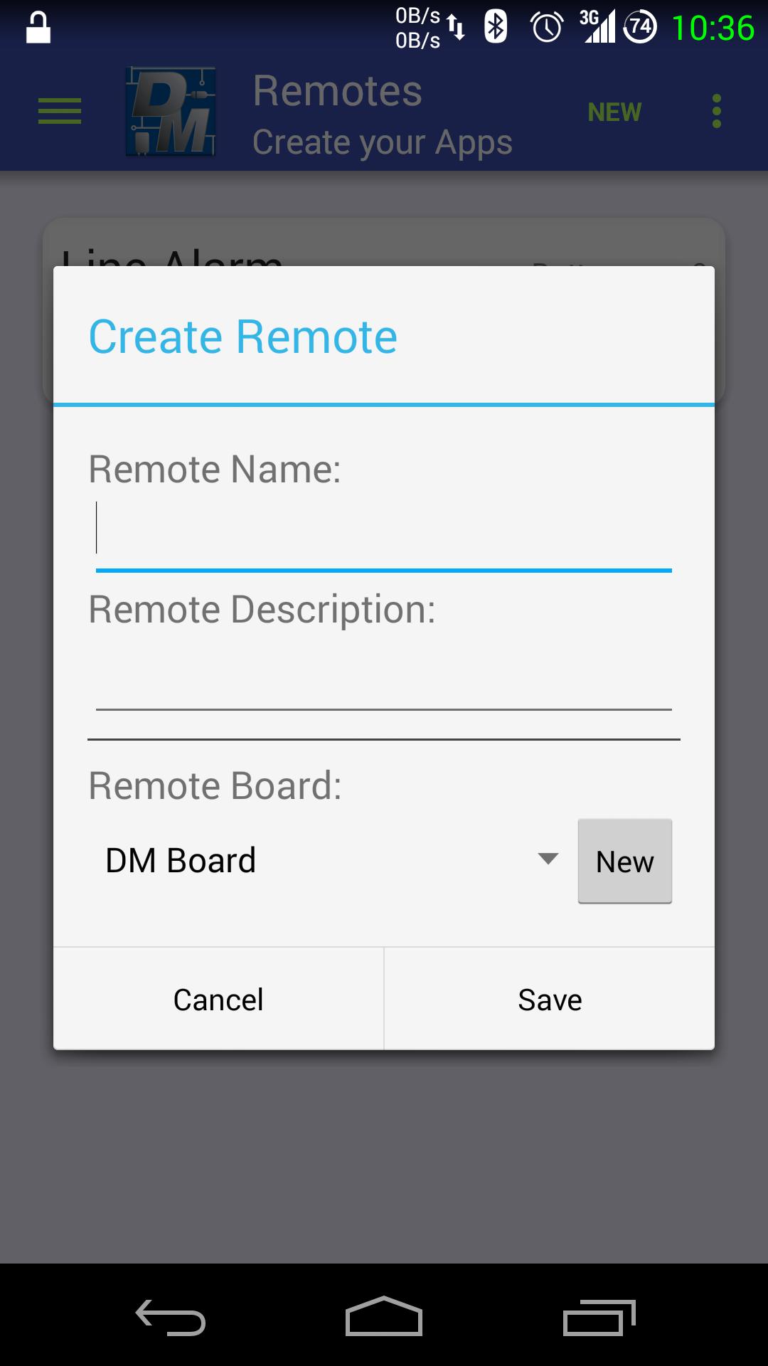 Creazione nuovo telecomando virtuale